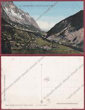 VALLE D'AOSTA COURMAYEUR 197 ENTREVES - VAL FERRET Cartolina
