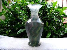 3.51lb Carved NATURAL Fluorite quartz crystal flower vase healing
