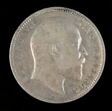 1907 Edward VII India One Rupee Silver Coin Circulated