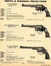 1971 Print Ad of Smith & Wesson S&W 17 48 K22 Masterpiece 22 Jet Magnum Revolver