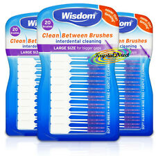3x wisdom Purple Clean Between Large Rubber 20 Interdental Floss Plaque Brushes