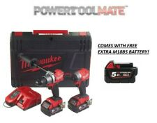 Milwaukee M18FPP2A-502X 18V Fuel Brushless Combi Drill and Impact Driver Kit wit