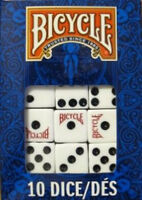 10 Regular Dice Die Bicycle Brand Playing Cards Normal Dice (Two 5 Packs)