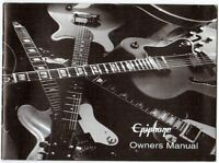EPIPHONE Guitar Owners Manual, Good Condition