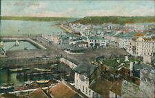 ST HELIER Town View Postcard JERSEY Valentine's Series