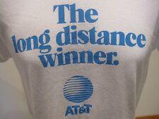 Vtg 80s AT&T The Long Distance Winner T Shirt 50/50 Soft 50/50 XS White Phone