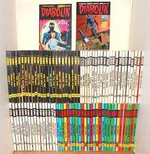 91 fumetti DIABOLIK prima + seconda serie (tra il num. 5 e il num. 592)