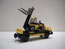LEGO® Eisenbahn Waggon 12 - mit Gabelstapler für 3677, 7898, 7939, 60052 - NEU
