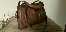 CLARKS Vintage Brown Leather Saddle Bag Grab Bag