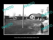 OLD LARGE HISTORIC PHOTO OF CONROE TEXAS, THE RAILROAD DEPOT STATION c1940 1