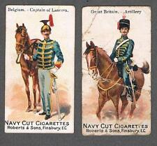 1902 Roberts & Sons Colonial Troops Tobacco Cards Lot of 2 Belgium/Great Britain