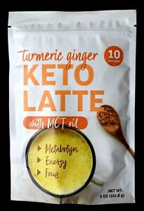 NEW IN PACKAGE Turmeric Ginger Keto Latte Coco Milk  w/ MCT Oil Powder 5 oz