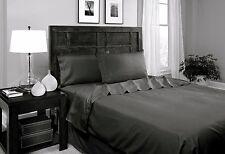 Divatex Luxury Microfiber Black Full Sheet Set