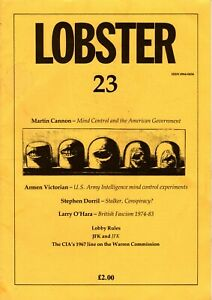 Lobster issue 23 June 1992 rare UK parapolitical magazine CIA MI5 MI6 NF BNP