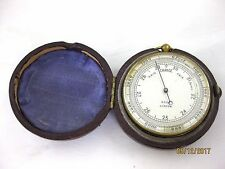 ANTIQUE    POCKET BAROMETER and CASE   Good Working Condition