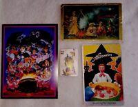 2 VINTAGE HALLOWEEN POSTCARDS, 1 WHITMAN MINI Wily Witch, 1 DISNEY VILLAINS CARD