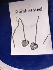Steel Earrings Heart Stainless