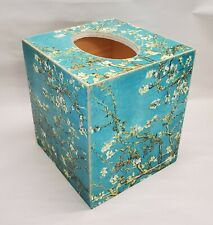 Handmade Decoupage Tissue Box Cover, Blossoming Almond Tree