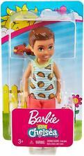 BARBIE CLUB CHELSEA DOLL FXG78 FOOD T-SHIRT NEW IN BOX BRUNETTE BOY GREEN EYES