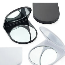 SMALL FOLDING COMPACT HANDY MIRROR POCKET HANDBAG SIZE TRAVEL MAKEUP BLACK WHITE