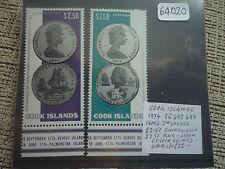 Islas Cook 1974 Bi-ciento del capitán cocineros 2nd viaje sg492/3 Set gato £ 32+ estampillada sin montar o nunca montada