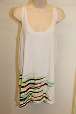 NWT Hurley Bikini Swimsuit Cover Up Dress Size L White