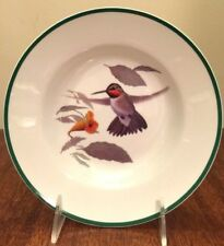 "National Wildlife Federation Collectibles Soup Bowl Gray Hummingbird 8 1/4"""