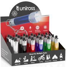 UNiROSS - 3 LED ALUMINIUM MINI TORCH FLASHLIGHT SMALL/KEYRING WITH BATTERY