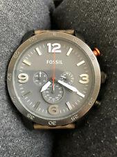 Fossil Herren-Armbanduhr XL Nate Chronograph Quarz Leder JR1419