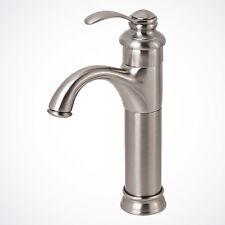 NEW Brushed Nickel Euro Modern Bathroom Vessel Sink Faucet Vanity Lavatory