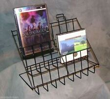 Counter CD/DVD & Literature Display Rack - 3 Tier 6 Pocket (Black)