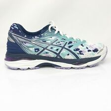 Asics Womens Gel Cumulus 18 T780N Blue White Running Shoes Lace Up Size 8.5