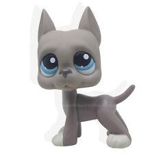 NEW #184 Grey Great Dane Dog Littlest Pet Shop Blue Eyes Action Figures Puppy