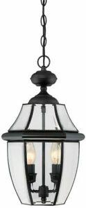 Portfolio Brayden Mystic Black  Beveled Glass Lantern Pendant Light 0617811