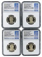 2015 S Presidential Dollar Four Coin Set NGC PF70 Ultra Cameo - 1st Day Issue