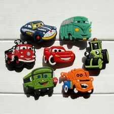 50pcs Lot Cars PVC Shoes Charms fit for Jibbitz Wristband as Kids Gifts