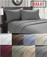 Egyptian Comfort Cozy Home Embroidery 1800 4 Piece Bed Sheet Set Deep Pocket New