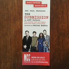 the Submission ad/flyer MCC Theater Jonathan Groff Rutina Wesley