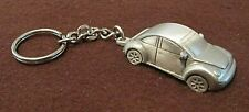 VW Volkswagen New Beetle Key Chain Pewter Vintage 1998 Sparta Collectible NOS