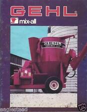 Farm Equipment Brochure - Gehl - 125 170 Mix-All - Grinder Mixer - 1986 (F3732)