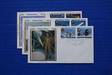 "Marshall Islands (136-141) 1987 Historic & Military Flights Colorano ""Silk"" FDCs"