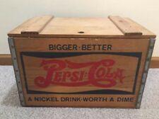 Vintage Original Pepsi Cola crate! vibrant! Rare Original Lid! Vibrant Colors