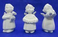 Vintage Sacrart Goebel Angel Figurines Playing Musical Instruments, Set of three