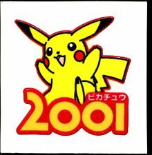 POKEMON STICKER Carte JAPANESE 50X50 TISSU N° PIKACHU 2001