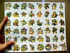 48 DIFFERENT SQUARE SUPER MARIO STICKERS BOWSER ONLY