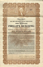 Phillips Building > 8005 Phillips Avenue Chicago Illinois $500 bond certificate