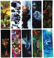 Lenticular 3D Effect Mixed Animal Bookmarks Office School Stationary Set of 10