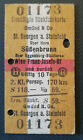 Eisenbahn Fahrkarte  1967   Gmünd - Wien