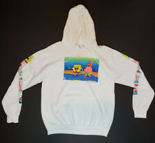 Spongebob Squarepants & Patrick Star Hooded Sweatshirt Pullover White Size L