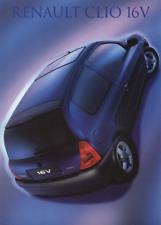Renault Clio 16V Brochure + Launch Press Release/Photograph - 1999